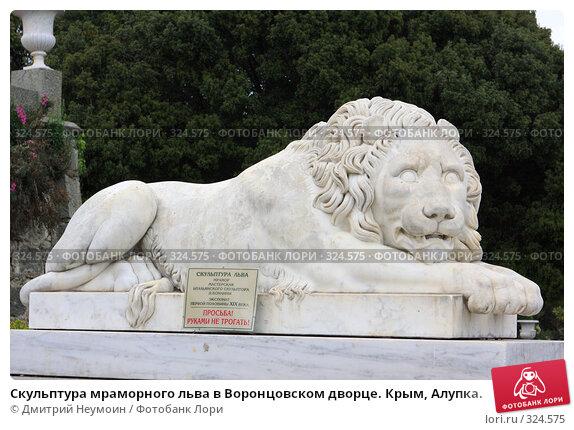 Купить «Скульптура мраморного льва в Воронцовском дворце. Крым, Алупка.», эксклюзивное фото № 324575, снято 29 апреля 2008 г. (c) Дмитрий Нейман / Фотобанк Лори