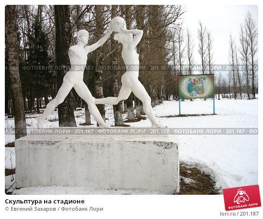 Скульптура на стадионе, фото № 201187, снято 13 февраля 2008 г. (c) Евгений Захаров / Фотобанк Лори