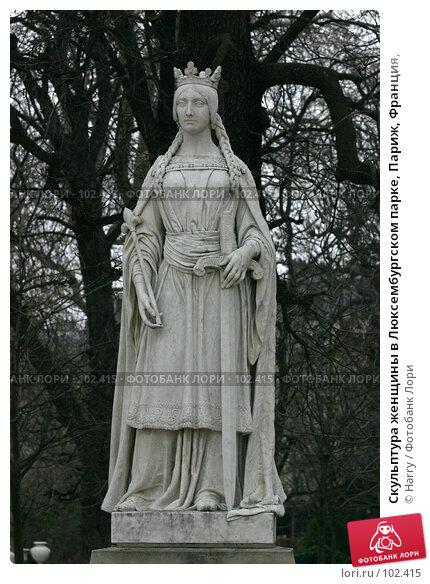 Скульптура женщины в Люксембургском парке, Париж, Франция,, фото № 102415, снято 25 марта 2017 г. (c) Harry / Фотобанк Лори