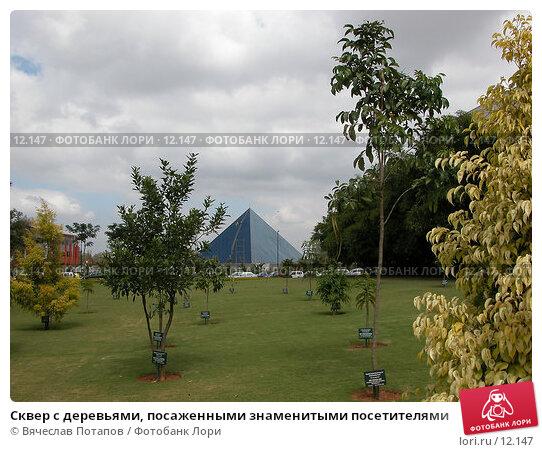 Сквер с деревьями, посаженными знаменитыми посетителями, фото № 12147, снято 9 декабря 2004 г. (c) Вячеслав Потапов / Фотобанк Лори