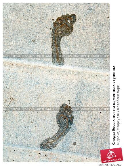 Следы босых ног на каменных ступенях, фото № 327267, снято 14 июня 2008 г. (c) Давид Мзареулян / Фотобанк Лори