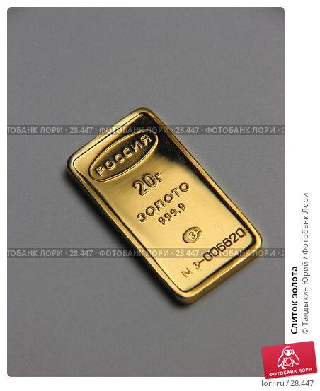 Слиток золота, фото № 28447, снято 26 марта 2007 г. (c) Талдыкин Юрий / Фотобанк Лори