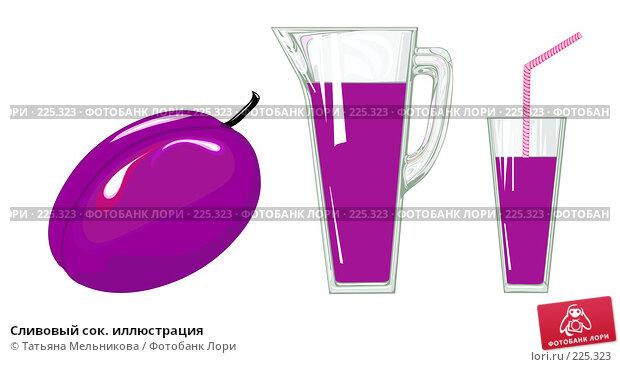 Сливовый сок. иллюстрация, иллюстрация № 225323 (c) Татьяна Мельникова / Фотобанк Лори