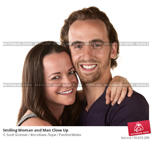 Smiling Woman and Man Close Up. Стоковое фото, фотограф Scott Griessel / PantherMedia / Фотобанк Лори
