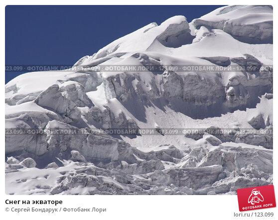 Купить «Снег на экваторе», фото № 123099, снято 7 февраля 2007 г. (c) Сергей Бондарук / Фотобанк Лори