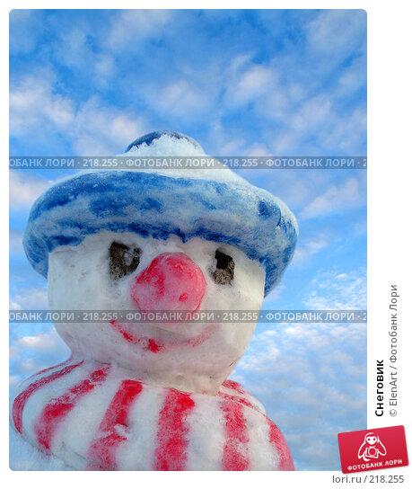 Снеговик, фото № 218255, снято 23 октября 2016 г. (c) ElenArt / Фотобанк Лори