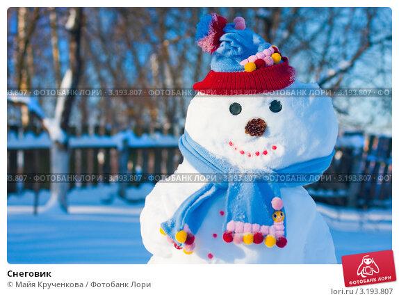 Купить «Снеговик», фото № 3193807, снято 28 января 2012 г. (c) Майя Крученкова / Фотобанк Лори
