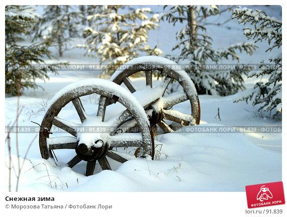 Снежная зима, фото № 91839, снято 10 декабря 2005 г. (c) Морозова Татьяна / Фотобанк Лори