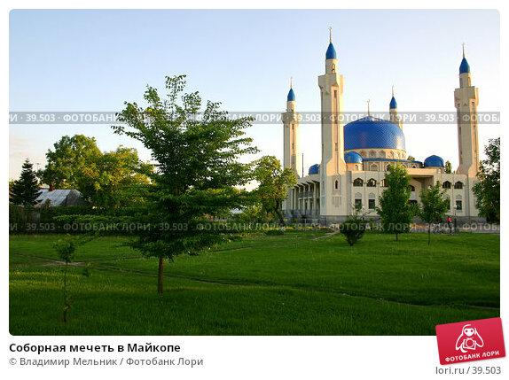 Соборная мечеть в Майкопе, фото № 39503, снято 11 мая 2005 г. (c) Владимир Мельник / Фотобанк Лори