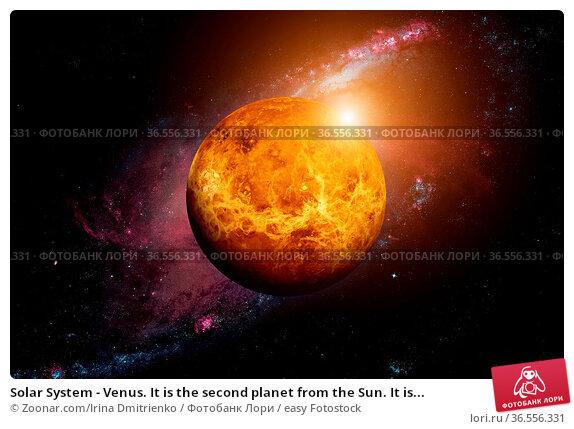 Solar System - Venus. It is the second planet from the Sun. It is... Стоковое фото, фотограф Zoonar.com/Irina Dmitrienko / easy Fotostock / Фотобанк Лори