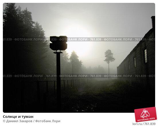Солнце и туман. Стоковое фото, фотограф Даниил Захаров / Фотобанк Лори