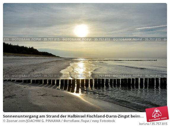 Sonnenuntergang am Strand der Halbinsel Fischland-Darss-Zingst beim... Стоковое фото, фотограф Zoonar.com/JOACHIM G. PINKAWA / easy Fotostock / Фотобанк Лори