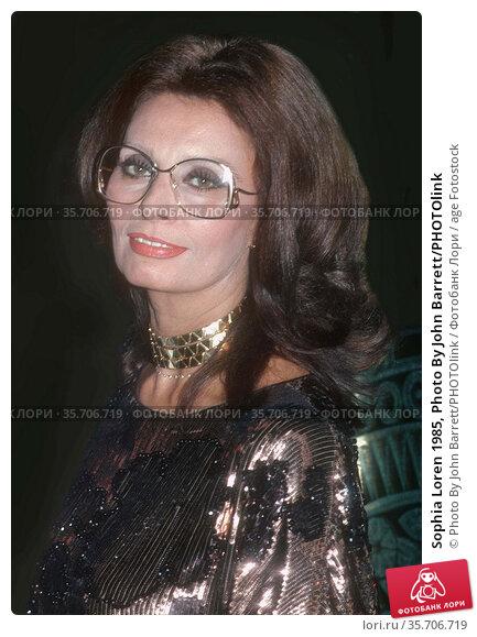 Sophia Loren 1985, Photo By John Barrett/PHOTOlink (2008 год). Редакционное фото, фотограф Photo By John Barrett/PHOTOlink / age Fotostock / Фотобанк Лори