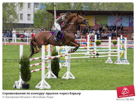 Соревнования по конкуру: прыжок через барьер, фото № 56363, снято 14 мая 2006 г. (c) Лисовская Наталья / Фотобанк Лори