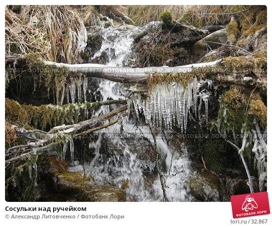 Сосульки над ручейком, фото № 32867, снято 26 октября 2016 г. (c) Александр Литовченко / Фотобанк Лори