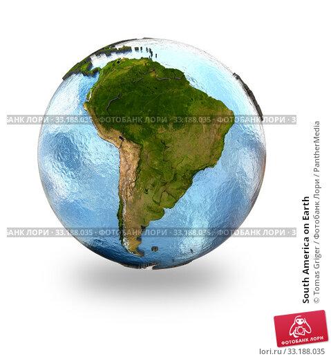 Купить «South America on Earth», фото № 33188035, снято 28 мая 2020 г. (c) PantherMedia / Фотобанк Лори