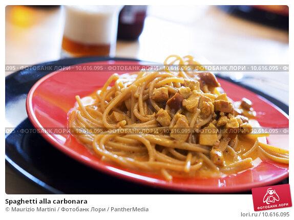 Spaghetti alla carbonara. Стоковое фото, фотограф Maurizio Martini / PantherMedia / Фотобанк Лори