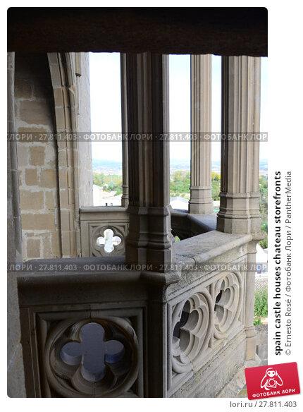 Купить «spain castle houses chateau storefronts», фото № 27811403, снято 22 февраля 2018 г. (c) PantherMedia / Фотобанк Лори
