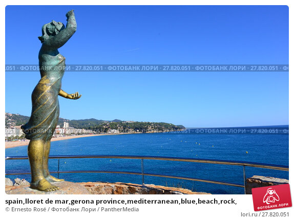Купить «spain,lloret de mar,gerona province,mediterranean,blue,beach,rock,», фото № 27820051, снято 18 февраля 2018 г. (c) PantherMedia / Фотобанк Лори
