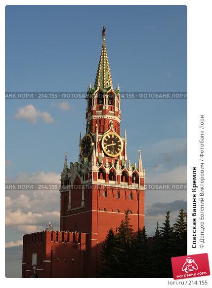 Спасская башня Кремля, фото № 214155, снято 18 июля 2006 г. (c) Донцов Евгений Викторович / Фотобанк Лори
