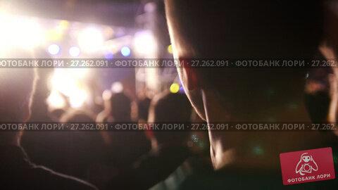 Купить «Spectators at the concert - blurred», видеоролик № 27262091, снято 14 декабря 2018 г. (c) Константин Шишкин / Фотобанк Лори