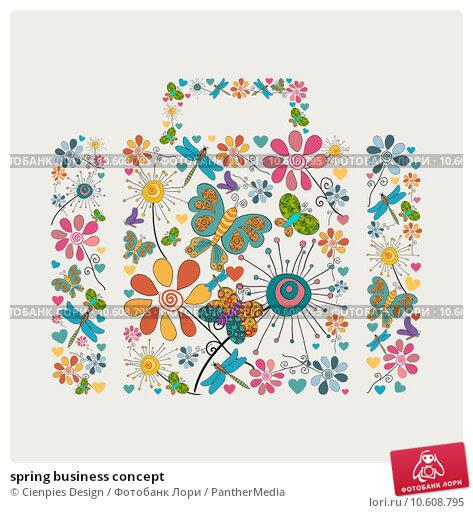 spring business concept. Стоковая иллюстрация, иллюстратор Cienpies Design / PantherMedia / Фотобанк Лори