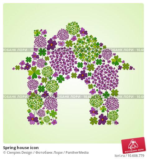 Spring house icon. Стоковая иллюстрация, иллюстратор Cienpies Design / PantherMedia / Фотобанк Лори