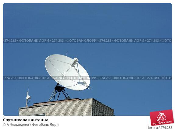 Спутниковая антенна, фото № 274283, снято 26 июня 2007 г. (c) A Челмодеев / Фотобанк Лори