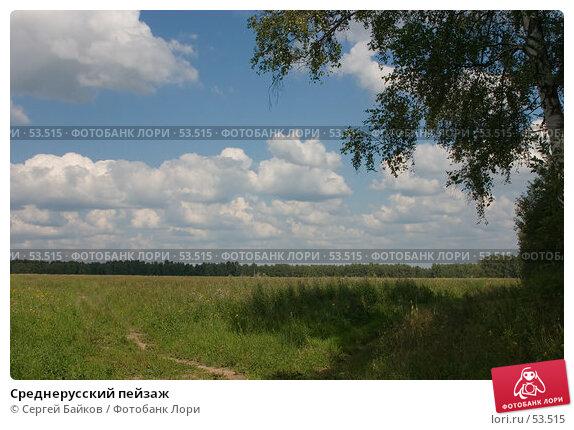 Среднерусский пейзаж, фото № 53515, снято 5 августа 2004 г. (c) Сергей Байков / Фотобанк Лори