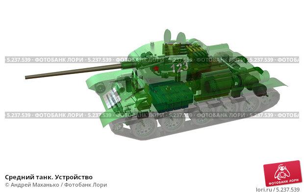 Средний танк. Устройство, иллюстрация № 5237539 (c) Андрей Маханько / Фотобанк Лори