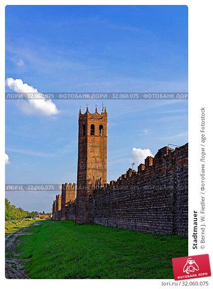 Stadtmauer. Стоковое фото, фотограф Bernd J. W. Fiedler / age Fotostock / Фотобанк Лори