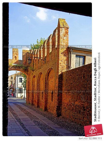 Stadtmauer, Stadttor, Rocca Degli Alberi. Стоковое фото, фотограф Bernd J. W. Fiedler / age Fotostock / Фотобанк Лори