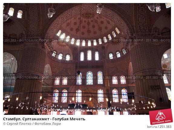 Стамбул. Султанахмет - Голубая Мечеть, фото № 251383, снято 31 августа 2007 г. (c) Сергей Плотко / Фотобанк Лори