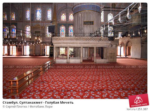 Стaмбул. Султанахмет - Голубая Мечеть, фото № 251387, снято 31 августа 2007 г. (c) Сергей Плотко / Фотобанк Лори