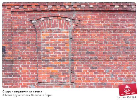 Старая кирпичная стена, фото № 250495, снято 11 апреля 2008 г. (c) Майя Крученкова / Фотобанк Лори