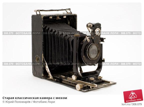 Старая классическая камера с мехами, фото № 308079, снято 1 июня 2008 г. (c) Юрий Пономарёв / Фотобанк Лори