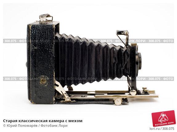 Старая классическая камера с мехом, фото № 308075, снято 1 июня 2008 г. (c) Юрий Пономарёв / Фотобанк Лори