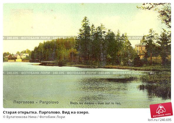 Старая открытка. Парголово. Вид на озеро., фото № 240695, снято 21 января 2017 г. (c) Булатенкова Нина / Фотобанк Лори