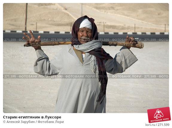 Старик-египтянин в Луксоре, фото № 271599, снято 29 декабря 2005 г. (c) Алексей Зарубин / Фотобанк Лори