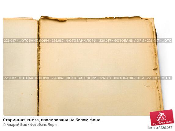 Старинная книга, изолирована на белом фоне, фото № 226087, снято 27 марта 2007 г. (c) Андрей Зык / Фотобанк Лори