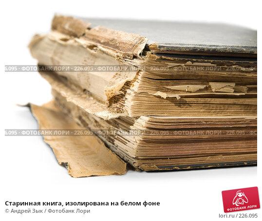 Купить «Старинная книга, изолирована на белом фоне», фото № 226095, снято 27 марта 2007 г. (c) Андрей Зык / Фотобанк Лори