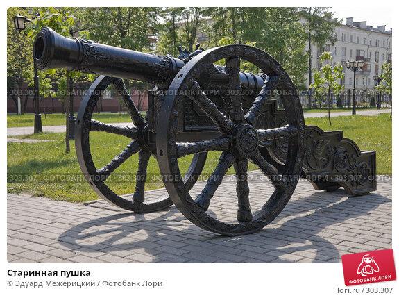 Старинная пушка, фото № 303307, снято 12 мая 2008 г. (c) Эдуард Межерицкий / Фотобанк Лори