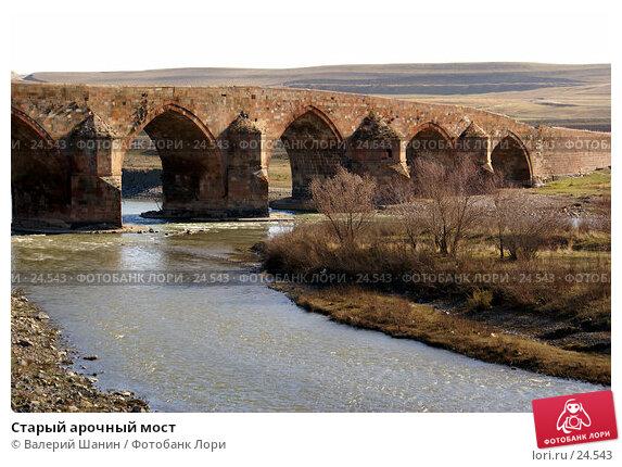 Купить «Старый арочный мост», фото № 24543, снято 17 ноября 2006 г. (c) Валерий Шанин / Фотобанк Лори