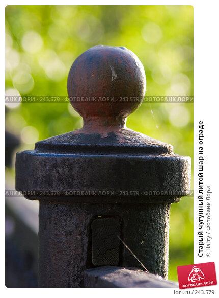Старый чугунный литой шар на ограде, фото № 243579, снято 2 июня 2007 г. (c) Harry / Фотобанк Лори