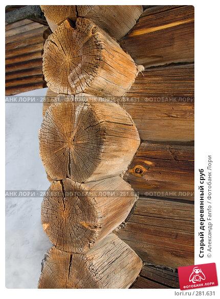 Старый деревянный сруб, фото № 281631, снято 24 января 2017 г. (c) Александр Fanfo / Фотобанк Лори