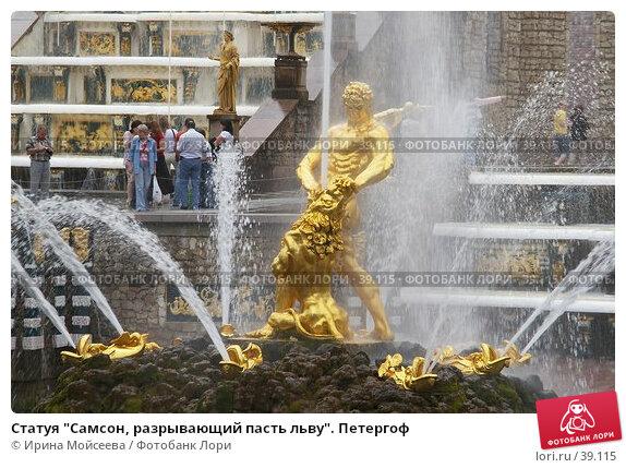 """Статуя """"Самсон, разрывающий пасть льву"""". Петергоф, эксклюзивное фото № 39115, снято 25 июня 2006 г. (c) Ирина Мойсеева / Фотобанк Лори"""