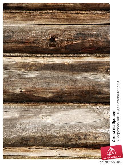 Стена из бревен, фото № 227303, снято 28 июля 2007 г. (c) Морозова Татьяна / Фотобанк Лори