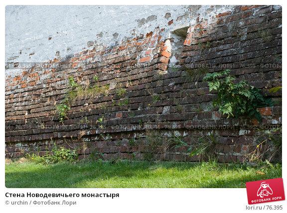 Стена Новодевичьего монастыря, фото № 76395, снято 23 августа 2007 г. (c) urchin / Фотобанк Лори