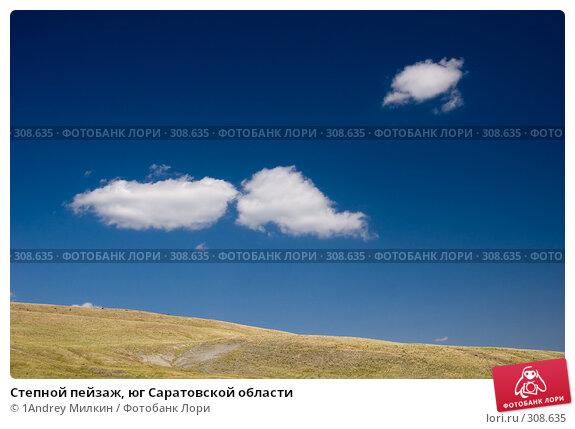Степной пейзаж, юг Саратовской области, фото № 308635, снято 19 июля 2007 г. (c) 1Andrey Милкин / Фотобанк Лори