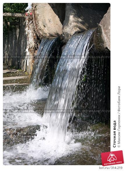 Купить «Сточная вода», фото № 314219, снято 19 апреля 2018 г. (c) Максим Горпенюк / Фотобанк Лори